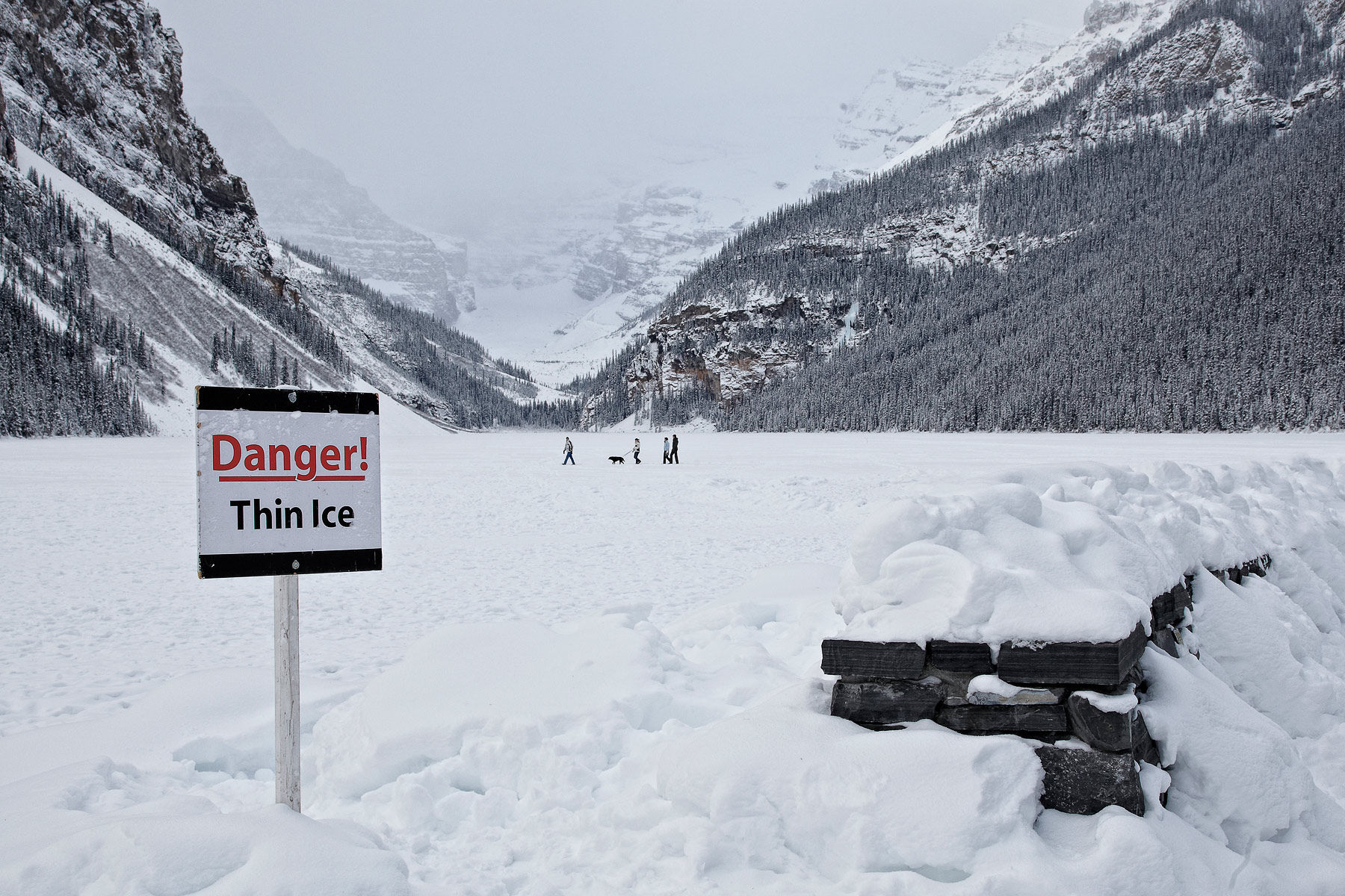 Lake Louise Warning