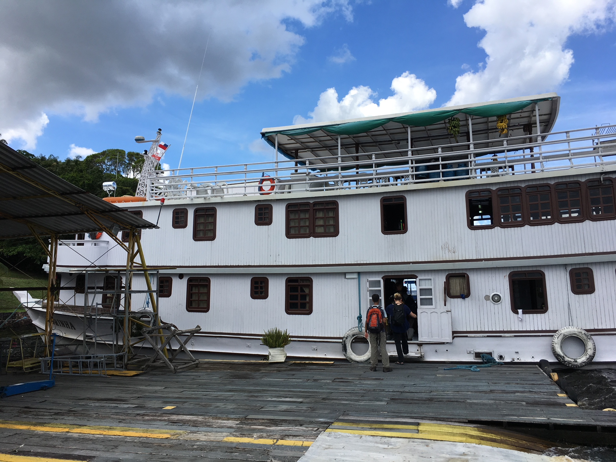 The Dorinha docked in Manaus